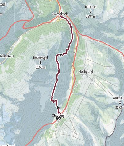 Map / Ötztaler Urweg V1 Obergurgl - Zwieselstein