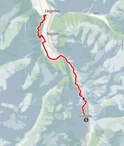 Map / Ötztaler Urweg E9 Granstein - Längenfeld