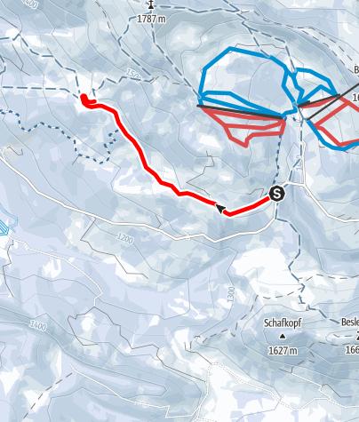 Karte / Winterwanderweg zur Mittelalpe Obermaiselstein