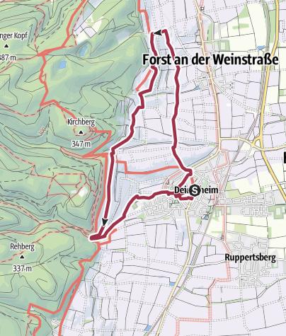 Karte / Durch die Deidesheimer Weinberge