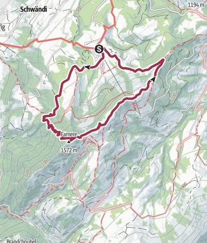 Carte / Rundwanderung Heiligkreuz-First