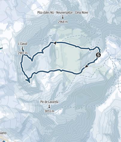 Map / Heiligkreuzkofel 2907m (Piz dal Ciaval)