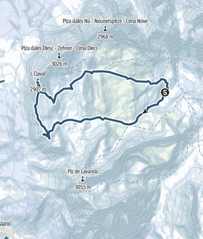 Karte / Heiligkreuzkofel 2907m (Piz dal Ciaval)
