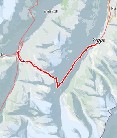 Karte / Ötztaler Urweg E6 Obergurgl - Vent