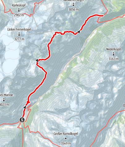 Map / Ötztaler Urweg E7 Vent - Zwieselstein