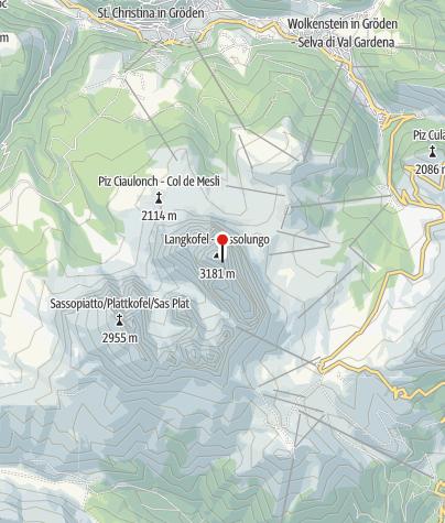 Karte / Langkofel Biwak