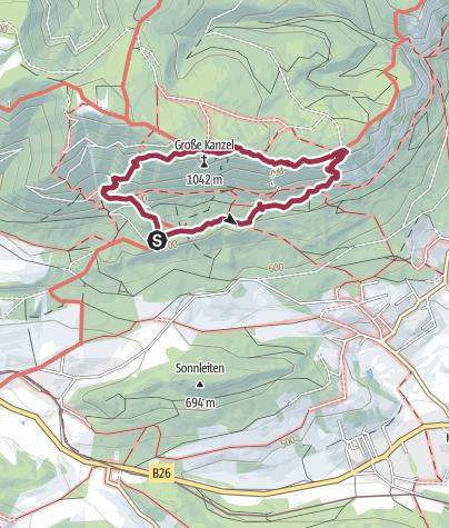 "Karte / Springelessteig Runde ""Panorama Höhenweg"""
