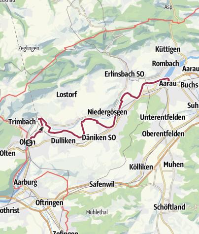 Map / Von Olten nach Aarau