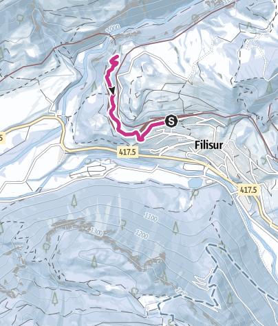 Karte / 215 Landwasserviadukt-Weg