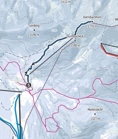 Map / Dürrnbachhorn (1775 m) von der Winkelmoosalm