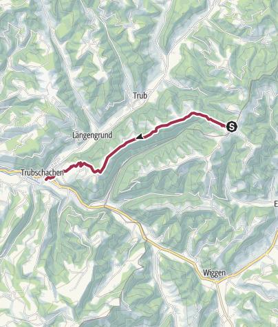 Karte / Höhenweg Entlebuch Emmental - Etappe 3: Turner - Trubschachen