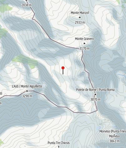 Karte / Refuge du Viso (Hütte vom CAF Briancon)