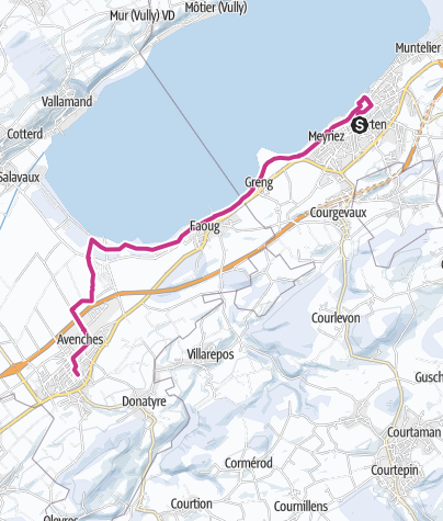 Karte / Von Murten nach Avenches