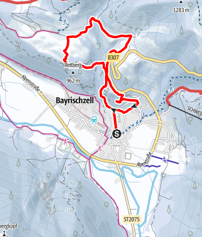 Karte / Bayrischzell Hochkreuth-Steigerl
