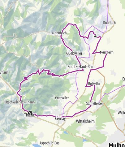 Karte / Mytische Orte am Oberrhein - Thann – Soultzmatt