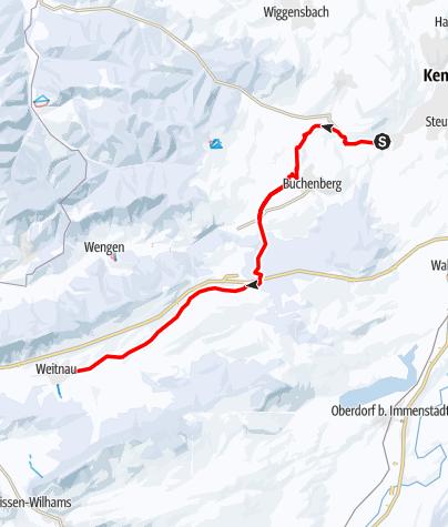Karte / Allgäuer Wanderweg