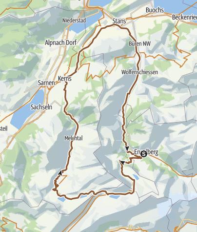Map / 4-Seen Biketour «Tour +» in Engelberg