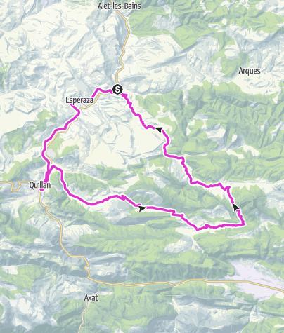 Street Map Of Quillan France.Couiza Loop Ride Road Bike Outdooractive Com