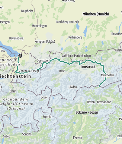 Map / Via Alpina Red Trail | AUSTRIA