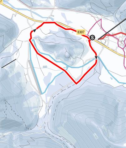 Karte / Kleine Geitau Schneeschuh-Runde