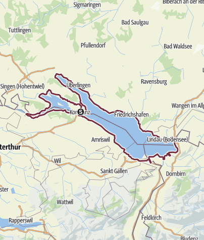 Map / Lake Constance circular trail: hiking around the lake
