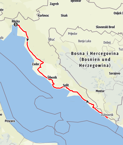 Map / Adriatic Highway