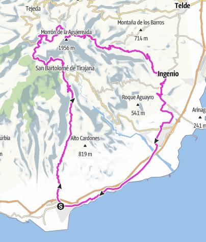 """Mapa / Al Pico de las Nieves – por la ruta """"fácil"""""""