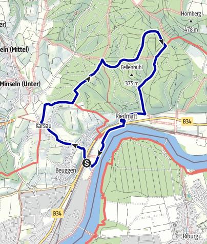 Karte / Mythische Orte am Oberrhein - Schloss Beuggen