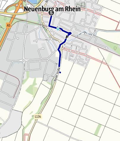 Karte / Mythische Orte am Oberrhein - Das wundertätige Kreuz