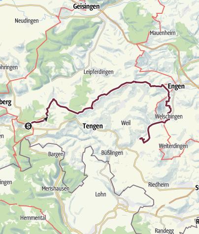 Karte / Randen - Binningen (day 71)