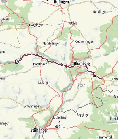 Karte / Westweg: Wutachschlucht - Randen (day 70)
