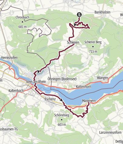 Map / Bodensee: Bohlingen - Mammern (day 73)