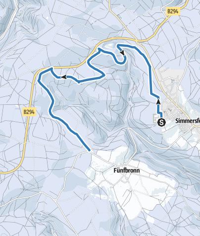 Karte / Loipe nach Fünfbronn