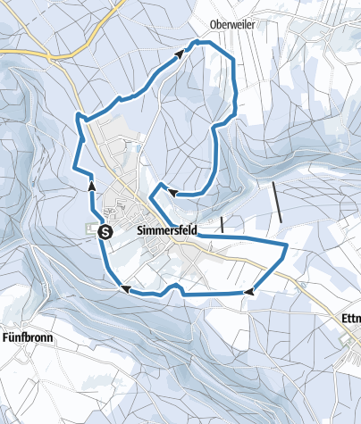 Karte / Rundloipe Simmersfeld