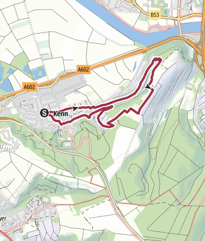 Karte / Rundwanderweg Kenn (R2)