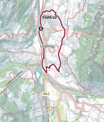 Carte / Rundweg zur Kneippanlage in Flühli