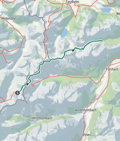 Map / Via Alpina: Luitpold Haus - Höflis Hütte (day 86)
