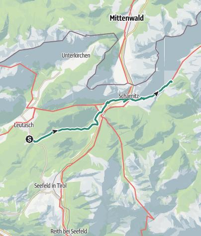 Map / Via Alpina: Weidach - Karwendelbach (day 93)