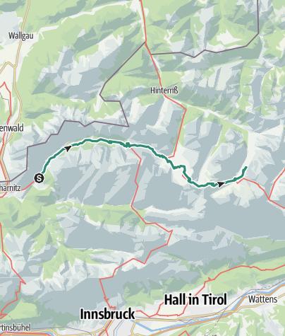 Map / Via Alpina: Karwendelbach - Engalm (day 94)