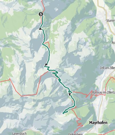 地图 / Via Alpina: Loassattel - Eisberg Hütte (day 97)