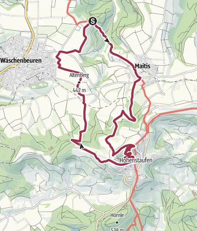 Karte / Löwenpfad Staufer-Runde - Barbarossa's Spuren vor Traumhafter Kulisse