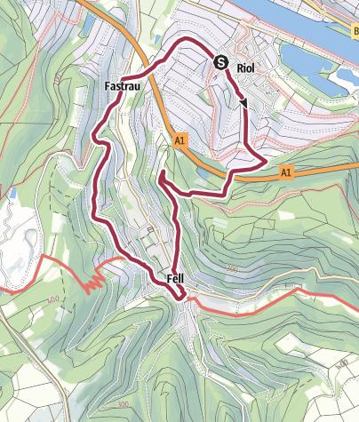 Karte / Rundwanderweg Riol - Fell - Fastrau - Riol (R12)