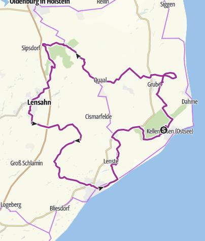 Mapa / Na Tour im OstseeFerienLand