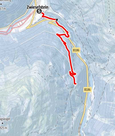 Karte / Sölden - Rodelbahn Lenzenalm