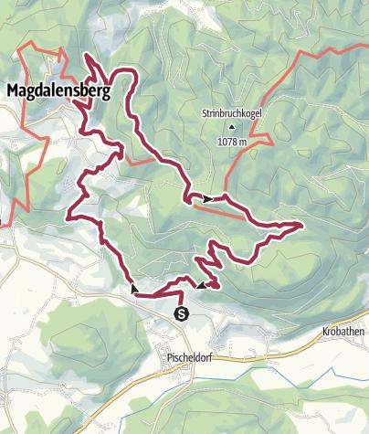 Karte / T'ai Chi-Wandern zu kraftvollen Plätzen im NO von Klagenfurt