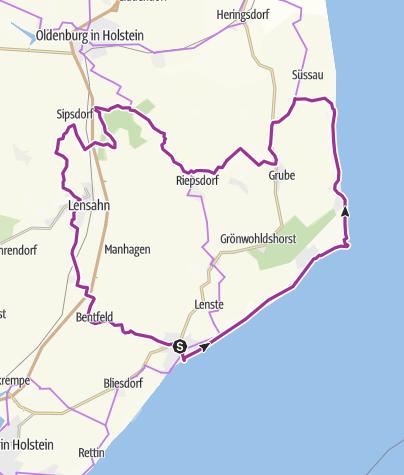 Karte / Rund Tour im OstseeFerienLand