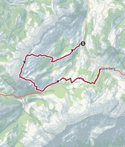 Karte / Hirsegg - Schrattenfluh - Rossweid - Sörenberg