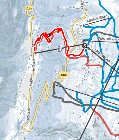 Map / Natural Toboggan run Hochgurgl