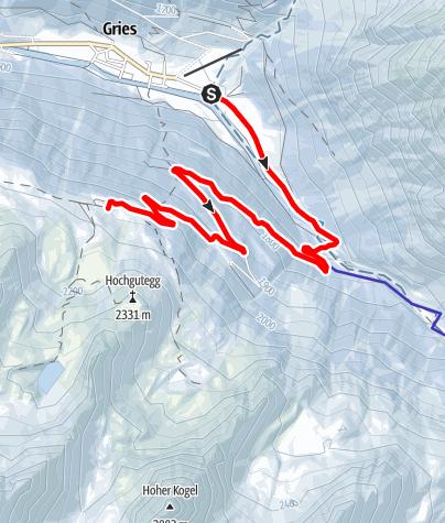 Karte / Rodelbahn Nisslalm - Längenfeld/Gries
