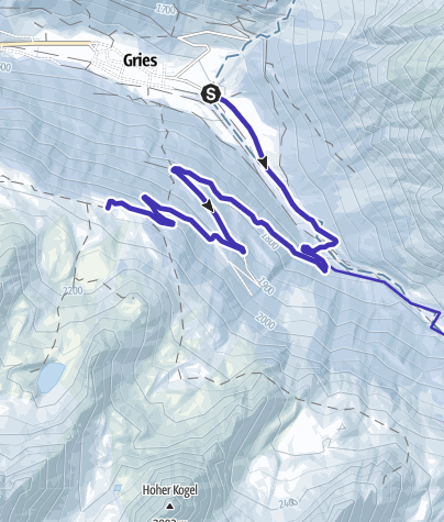 Map / oboggan run Nisslalm - Längenfeld/Gries